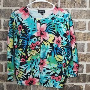 Spense Multicolored Floral Cardigan